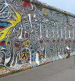 Anstrich auf der Berliner Mauer Lizenzfreies Stockbild