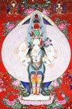 Anstrich der Buddha-Gestaltungsarbeit Lizenzfreie Stockfotos