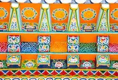 Anstrich des tibetanischen Klosters Lizenzfreie Stockfotos