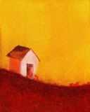 Anstrich eines Bauernhofhauses stock abbildung