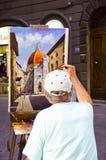 Malerei in Florenz Stockfotos