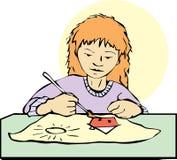 Anstrich-Mädchen Lizenzfreies Stockbild