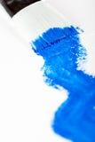 Anstrich mit Blau Stockfoto