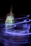 Anstrich mit Leuchte Stockfotos