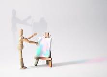 Anstrich mit Leuchte stockbilder