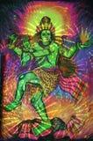 Anstrich von Tanzen shiva Lizenzfreie Stockfotografie