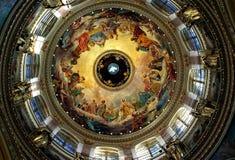 Anstriche in der Kathedrale Lizenzfreies Stockbild