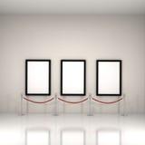 Anstriche innerhalb einer Galerie Stockfotografie