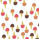 Anstrykning för kotte för glass tre på den vita bakgrundsvektorn royaltyfri illustrationer