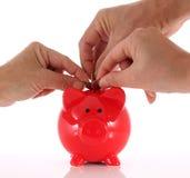 Ansturm, zum des Geldes zu sparen Stockbilder