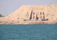 ANSUAN EGIPT, LISTOPAD, - 18, 2008: Antyczni miejsca na brzeg o Obrazy Stock