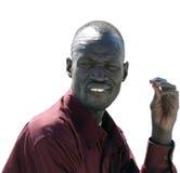 ANSUAN, EGYPTE - NOVEMBER 18, 2008: Portret van een onbekende mens Nu Royalty-vrije Stock Foto's