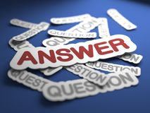 Answer Concept. Royalty Free Stock Photo