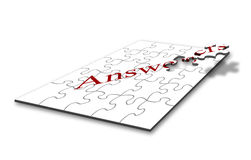 Answer jigsaw Royalty Free Stock Images
