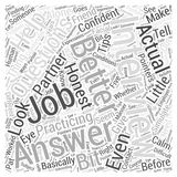 Answer job interview questions 04 word cloud concept vector background Royalty Free Stock Photo