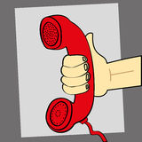 Answer The Phone Royalty Free Stock Images