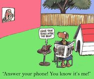 Answer the phone. Answer your phone! You know it's me stock illustration