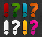 Answer question marks Stock Image