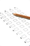 Answer Sheet 1 Stock Images