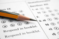 Answer sheet Royalty Free Stock Photo
