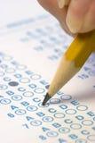 Answer Sheet. Test answer sheet royalty free stock photo
