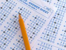 Answer Sheet Stock Photography