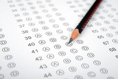 Answer sheet for competitive exam, entrance exam or options sheet royalty free stock photography