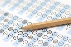 Answer sheet test score Stock Image