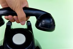 Answer the telephone Stock Images