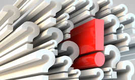 Answer to questions Royalty Free Stock Photos