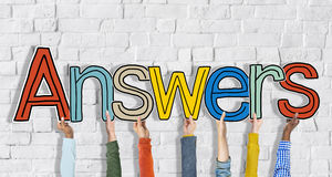 Answer word Concepts and Brick Wall Royalty Free Stock Image