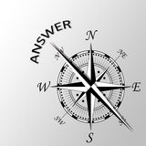 Answer written aside compass. Illustration of answer written aside compass Royalty Free Stock Photo
