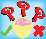 Answer Stock Image