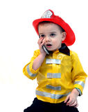 Answering 911 call Royalty Free Stock Photos