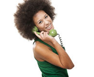 Answering a call Stock Photo