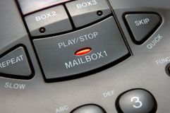 Answering machine. A closeup of answering machine Royalty Free Stock Photo