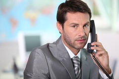 Answering, phone Stock Image