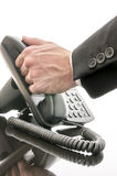 Answering phone Royalty Free Stock Image