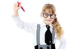 Answering pupil Stock Image