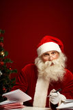 Answering xmas letters royalty free stock photos