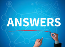 ANSWERS Royalty Free Stock Image