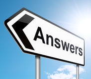Answers concept. Royalty Free Stock Images