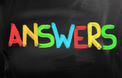 Answers Concept Royalty Free Stock Photo