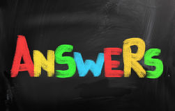Answers Concept Royalty Free Stock Photos