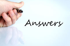Answers concept Stock Photography