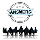 Answers Explanation Question Opinion Suggestion Concept.  Royalty Free Stock Images