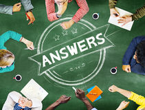 Answers Explanation Question Opinion Suggestion Concept stock photo