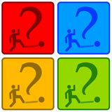 Answers. Finding creative answers for difficult questions Royalty Free Stock Image