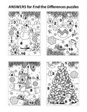 Answers for previous visual puzzles royalty free illustration