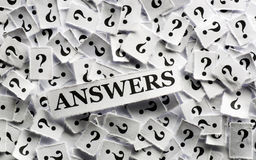 Answers on  question Royalty Free Stock Photo